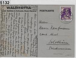 1933 Pro Juventute J66/267 Ersttag Auf Karte Waldstättia - Luzern 1.XII.33 - FDC