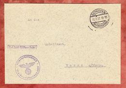 Brief, Frei Durch Abloesung Reich, Reichsarbeitsdienst, Osthofen Nach Worms 1937 (51373) - Storia Postale