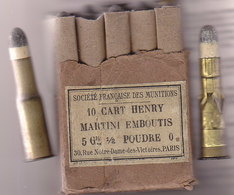 """Boite De 10 Cartouches Henry Martini Dont 8 Normales Et 2 """" Spéciales """" - Equipement"""