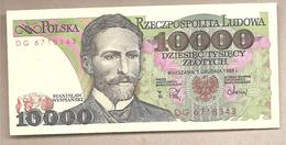 Polonia - Banconota Circolata Da 10.000 Zloty P-151b - 1988 - Poland