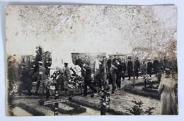 Carte Photo Cérémonie Militaire Cimetière GUSTROW Kriegsgefangenenlager Henri Hamoy 205 RI WWI Prisonnier Lisieux - Weltkrieg 1914-18