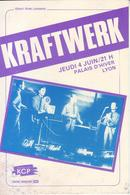 - Flyer - Kraftwerk - Palais D'hiver. Lyon - Début 80 - - Musique & Instruments