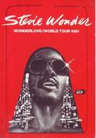 - Flyer - Stevie Wonder - Palais Des Sports. Grenoble - 1981 - - Musique & Instruments