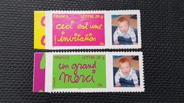 Timbres Personnalisés Adhésifs N° 3760B/3761B Neuf **  TTB - Frankrijk