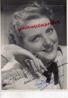 GRANDE PHOTO ORIGINALE DOLLY DAVIS-ACTRICE CINEMA-1896 PARIS-1962 NEUILLY SUR SEINE-LUCIEN LORELLE- DEDICACEE - Dédicacées