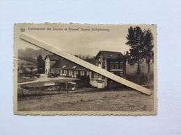 GENAPPE»ÉTABLISSEMENT DES SOURCES DE BOUSVAL,SOURCE St BARTHÉLEMY»Panorama Animé De L'usine,(NELS)1950. - Genappe