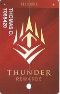 Thunder Valley Casino - Lincoln CA - Preferred Slot Card @2017 - Casino Cards