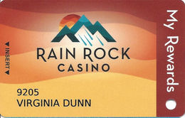 Rain Rock Casino - Yreka, CA - Slot Card - Casino Cards