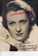 GRANDE PHOTO ORIGINALE ARLETTE MARCHAL-ACTRICE CINEMA-1902-1984 PARIS- EPOUX-MARCEL DE SANO-LES AILES-DEDICACEE - Dédicacées