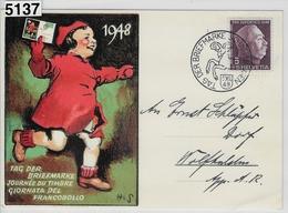 1948 Tag Der Briefmarke Journee Du Timbre Karte 5.XII.48 - Marcofilie