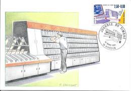 2689 (timbre De Carnet) - JOURNEE DU TIMBRE - 16-03-191, Carte Nationale, 18 VIERZON - Marcophilie (Lettres)