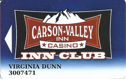 Carson Valley Casino - Carson City, NV - Slot Card - Casino Cards