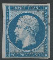 Lot N°42555  Variété/n°14A, Oblit, Belles Marges, Fond Ligné Vertical - 1853-1860 Napoléon III.