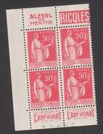 Bande Pub De Carnet - N° 283 - RICQLES - ART VIVANT - Publicité TB ** - Advertising
