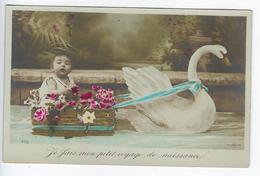 CPA Enfant Cygne Je Fais Mon Petit Voyage De Naissance - Scenes & Landscapes