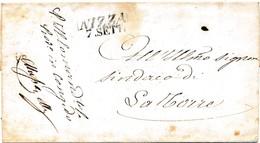 H141 - Lettre De NICE - NIZZA à LA TORRE - 1846 - 1801-1848: Précurseurs XIX
