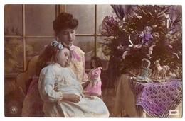 Giovane Donna Con Bambina E Bambola - 1906. - Cartoline