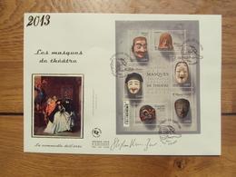 Les Masques De Théatre F4803 // Premier Jour FDC //  1 Enveloppe Max  // 2013 - FDC