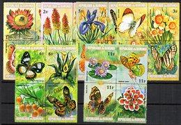 Serie Nº 553/76 Burundi - Butterflies