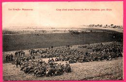 Grandes Manoeuvres - Coup D'oeil Avant L'assaut Du Fort D'Asnières Près Dijon - Militaires - 1904 - Oblit. DIJON - B.D. - Manoeuvres