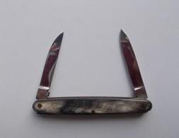 - Couteau. Canif - Petit Couteau - 2 Lames - Manche En Corne - - Couteaux