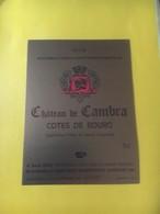8201 - Château De Cambra 1979 Côtes De Bourg - Bordeaux