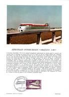 Aérotrain, YT 1631. FDC 7 Mars 1970 Orléans, Encart Philatélique - Autres