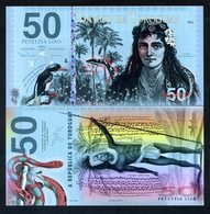 Toroguay, 50 Lixo, 2018, POLYMER, Limited Private Issue, UNC > Snake, Warrior - Billets