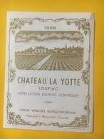 8209 - Château La Yotte 1966 Loupiac - Bordeaux