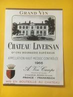 8212 - Château Liversan 1966 Haut-Médoc - Bordeaux