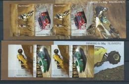 Islande 2011 Carnets Oblitérés C1237/1239 Sports Mécaniques Moto Cross, Rallye Auto - Markenheftchen