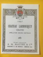 8217 - Château Larrouquey Graves  1967 - Bordeaux