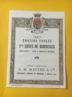 8219 - Château Faugas  1967 - Bordeaux