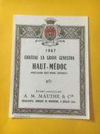 8221 - Château La Grave Genestra  1967 Haut Médoc - Bordeaux