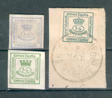 ESPAGNE ; 1872-1873-1910 ; Y&T N° 129-140-172 ; Oblitéré/neuf - Espagne