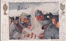 AK - I. WK - WEIHNACHT - Armee Im Felde Grillt Ein Hendl 1915 (Kuk Inf.-Reg. 84) - Weltkrieg 1914-18
