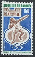 Dahomey YT PA 168 XX / MNH Jeux Olympiques Sport Munich 1972 Munchen Lancer - Benin - Dahomey (1960-...)