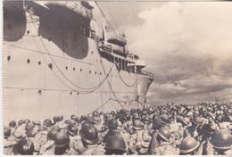 Rare Cpa Golfe De Tarente Les Troupes Françaises S 'embarquent Pour La France - 1939-45