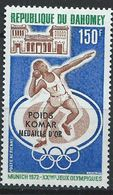 Dahomey YT PA 182 XX / MNH Jeux Olympiques Sport 1972 Munich Munchen Lancer Komar - Benin - Dahomey (1960-...)