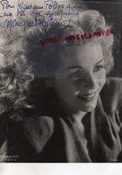 GRANDE PHOTO ORIGINALE MONIQUE ROLLAND-LAPIERRE-PARIS 1913-BOULOGNE BILLANCOURT 1999-ACTRICE CINEMA-ALIBI-DEDICACEE- - Dédicacées
