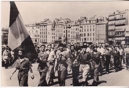 Rare Cpa 1944 Marseille Défilé Des FFI - 1939-45