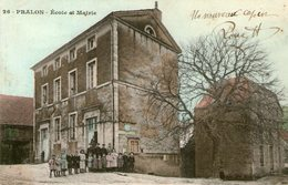 (66) CPA  Pralon  Ecole Et Mairie (Bon Etat) - Andere Gemeenten