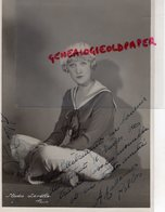 GRANDE PHOTO ORIGINALE ALICE ROBERTE-ACTRICE CINEMA-BELGIQUE 1906-1985- LOULOU-DESTIN HABSBOURG-DEDICACEE - Dédicacées