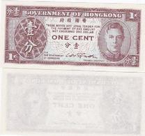 Hong Kong - 1 Cent 1945 P. 321 UNC Ukr-OP - Hongkong