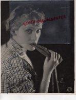 GRANDE PHOTO ORIGINALE ALICE ROBERTE-ACTRICE CINEMA-BELGIQUE 1906-1985- LOULOU-DESTIN HABSBOURG-DEDICACEE - Fotos Dedicadas