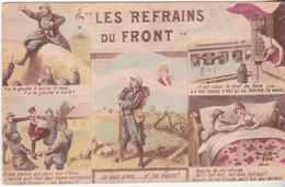 Rare Cpa Les Refrains Du Front - 1914-18