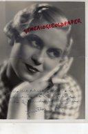 GRANDE PHOTO ORIGINALE JOSETTE DAY-ACTRICE CINEMA-COCHIN PARIS-EPOUX MARCEL PAGNOL- SOLVAY-FILLE PUISATIER-DEDICACEE - Dédicacées