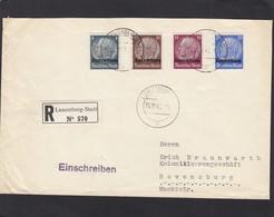 EINGESCHRIEBENE  BRIEF  VON LUXEMBURG-STADT NACH RAVENSBURG. - 1940-1944 German Occupation