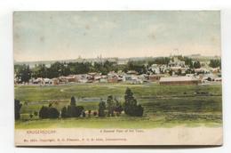Krugersdorp - General View - Early South Africa Postcard - Afrique Du Sud