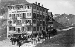 Furka - Hotel Furkablick (top Animation, Attelage, 1908, Verlag E. Synnberg) - VS Valais
